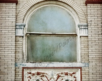 Old Window Architecture circa 1900's Downtown Greensboro North Carolina Fine Art Photography Print or Gallery Canvas Wrap Giclee
