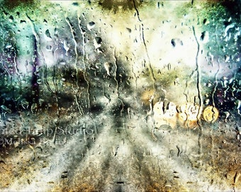 Surreal Moody Rainy Night Abstract Digital Art Large Gallery Wrap Canvas Art or Print