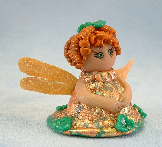 Fairy Flower Garden Pixie Erienne Polymer Clay OOAK Sculpture