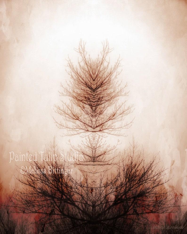Surreal Tree Branch of Life Inkblot Rorschach Mirror Image image 0