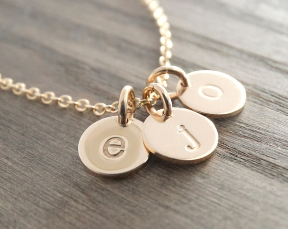 Letter Necklace Gold, Initial Necklace Gold, Letter Charm Necklace, Initial Charm Necklace, Gold Letter Pendant, Gold Letter Charm