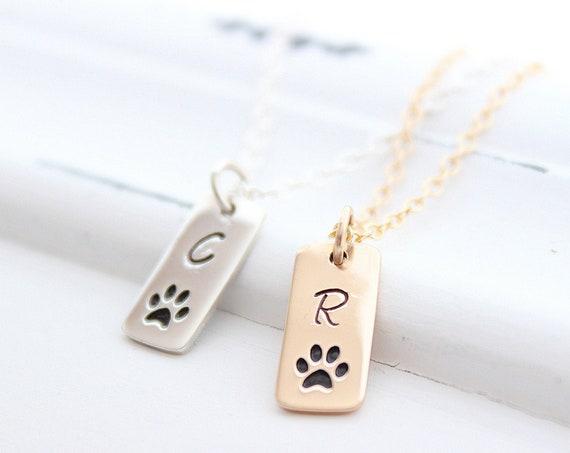 Dog paw necklace, Paw Print Necklace, Paw print jewelry, Paw print charm, paw print pendant, dog necklace, paw necklace, Dog Lovers Gift