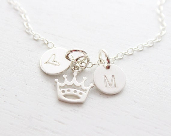Crown Necklace silver, crown Jewelry, Princess Crown Necklace, Queen Necklace for woman, Gift For Her Necklace, Gift for teen