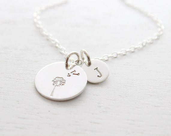 Dandelion Necklace silver, Make a Wish, Mother, Daughter, Birthday Gift, Graduation gift for her