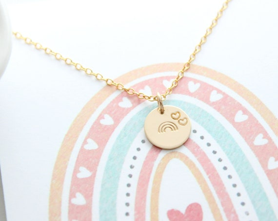 Rainbow Baby Necklace Rose Gold, rainbow heart necklace, Infant Loss, Memory Necklace, Miscarriage Necklace, Remembrance Necklace