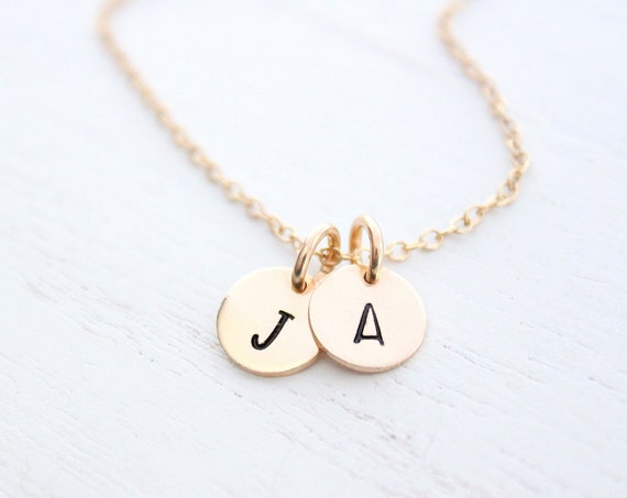 Initial Necklace in Gold • Custom Initial, Personalized Jewelry • Monogram necklace •  Letter necklace Gold • initial charm