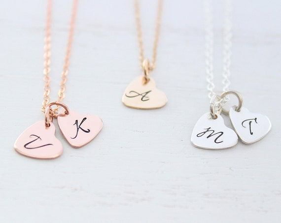 Personalized initial charms, Initial necklace, Sterling silver Initial Charm, Monogram Necklace, Personalized Jewelry, Letter charms