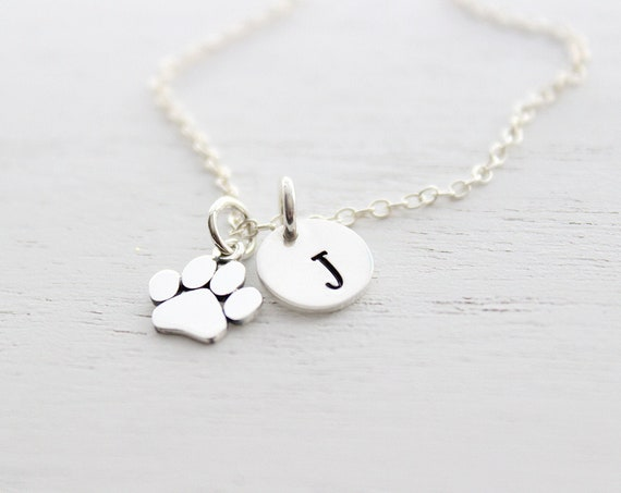 Paw Print Necklace, Dog paw necklace, Paw print jewelry, Paw print charm, paw print pendant, dog necklace, paw necklace, Dog Lovers Gift