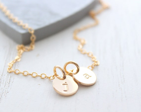 Letter initial Necklace in Gold, name necklace, Letter Charm Necklace, Initial Charm Necklace