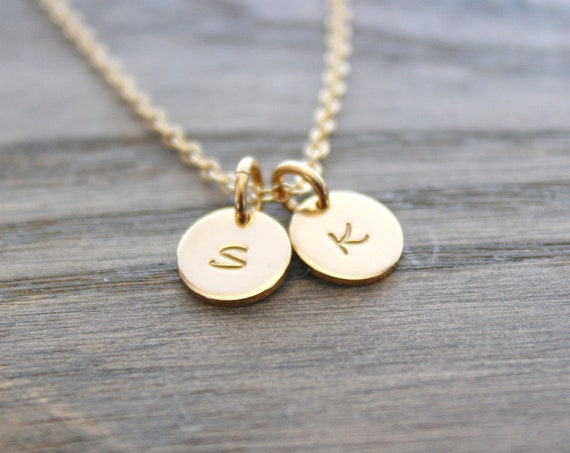 Gold Initial Necklace Gold Personalized Jewelry monogram jewelry Gold letter necklace Gold initial charm Gold initial Custom letter charm