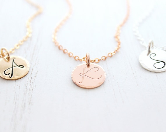 Gold Initial Necklace , Initial Necklace , Personalized Necklace , Letter Necklace , initial jewelry , Personalized Gifts , Mother Gift