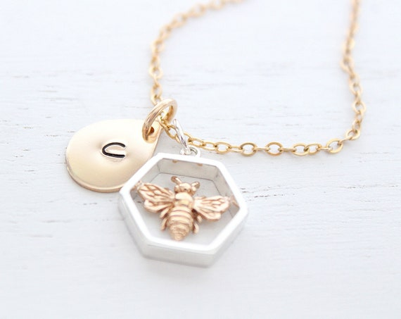 Bumble bee necklace silver, honey bee necklace, bee happy necklace, gold honey bee necklace, bee necklace silver, queen bee necklace