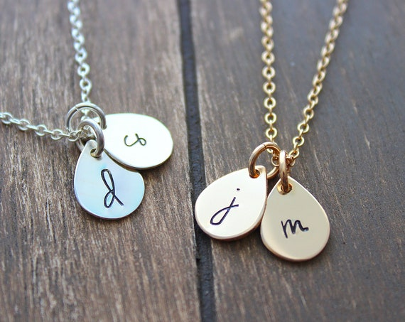 Initial Necklace, Cursive letter necklace Gold, Sterling Silver, Personalized jewelry, bridesmaid gift, Wedding, jewelry, Mothers day gift
