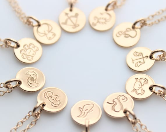 Zodiac Necklace Astrological Necklace Horoscope Necklace Astrology Necklace Zodiac Sign Zodiac jewelry ,Aries, Sagittarius, Taurus, Virgo