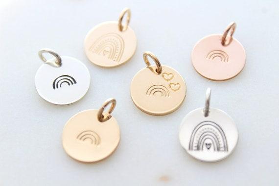 Rainbow charm Gold Rainbow Sterling Silver Rainbow Charm Necklace Minimalist, Rainbow baby, Rainbow pendant