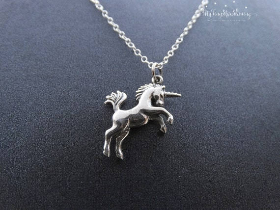 Silver Unicorn Necklace, Unicorn Jewelry, Magical Unicorns, Fairy tale, Sterling silver, Horse Necklace, Unicorn Jewelry