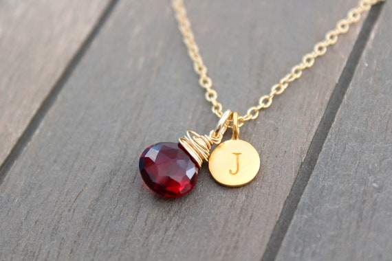 Necklace Gemstone Layering Necklace Bridesmaid Necklace Custom Initial necklace Bridesmaid Gifts Gold Necklace Gemstone