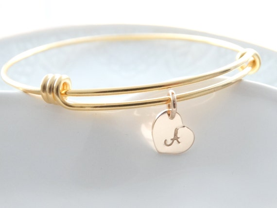 Personalised Initial Bracelet initial bracelet charm Gold adjustable Bangle Bracelet Gold Bangle charm Bracelet