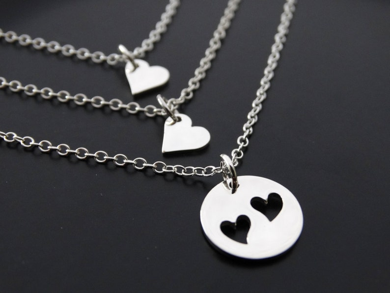Mother Daughter necklace sterling silver  Gift for mom image 0