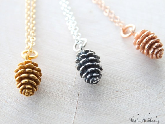 Pinecone necklace, Pinecone pendant, Pinecone Necklace, Fall Gift, Pinecone Jewelry, Sterling silver Pinecone, Gold Pinecone or Rose Gold