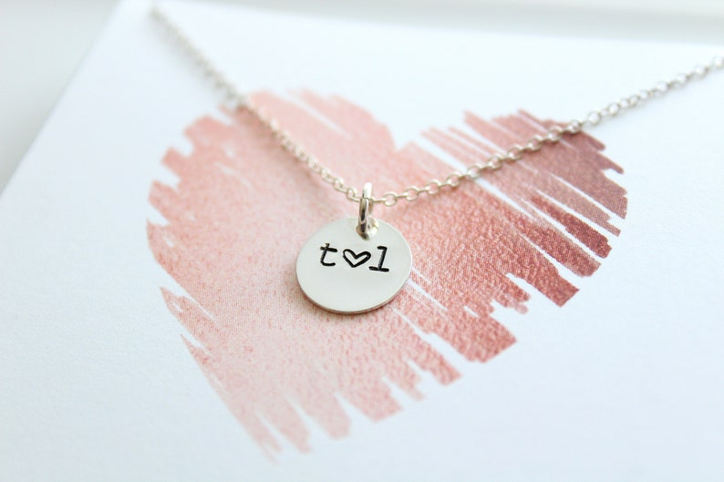 Soulmate initial necklace Couples Initial Necklace for image 0
