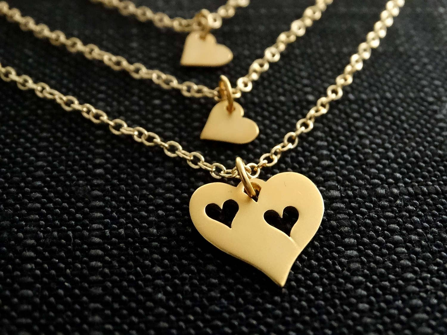 47d73f9e4959b Mother Daughter Necklace Mother's Necklace heart mother sets ...