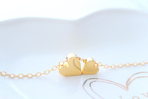 Mother Daughter Necklace gold heart necklace, Mom Gifts from Daughter Mom Jewelry, Mom Birthday Gift, Mothers Day Gift, Mom, gift for her