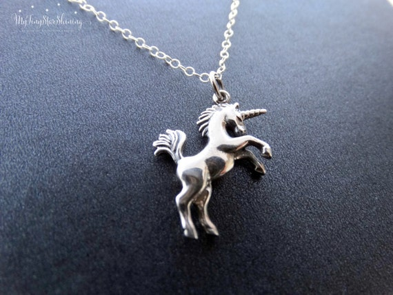 Silver Unicorn Necklace, Unicorn Jewelry, Magical Unicorns, Fairytale, Sterling silver Necklace, Horse Necklace