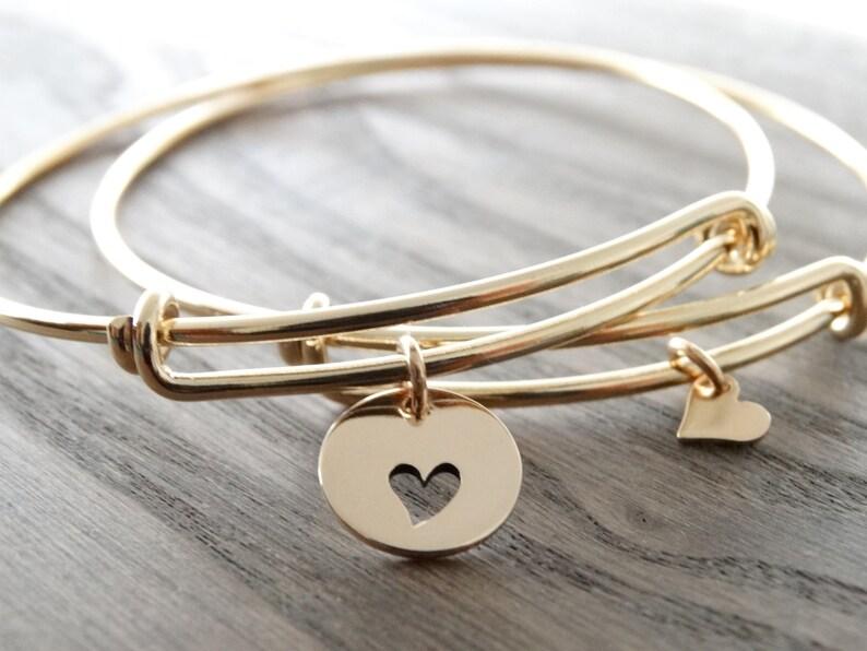 Mother Daughter Bracelet bangle Gift for Mother Daughter image 0
