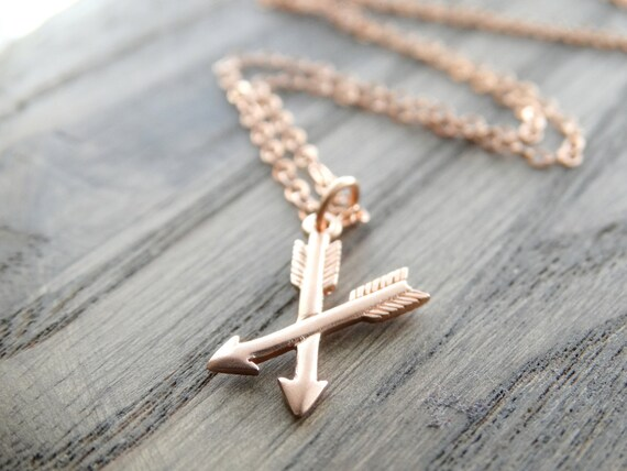 Gold Cross Arrows Necklace Best Friend Gift Crossed Arrow Necklace BFF Gift Friendship Jewelry Best Friend Jewelry Gift for Bestie Bae