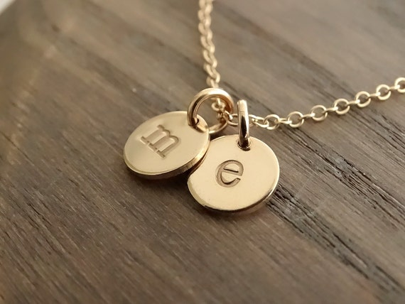 Initial Necklace Gold, Custom Initial, Personalized Jewelry, Monogram jewelry, Letter necklace Gold, initial charm, Custom letter charm
