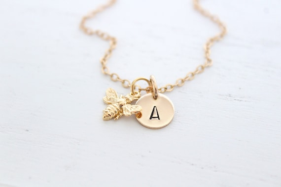 Honey bee necklace, Bumble bee necklace, honey bee necklace, bee happy necklace, bee necklace gold, queen bee necklace