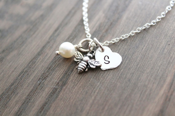 Bee necklace Sterling silver Necklace Tiny Bee Necklace Silver Necklace Bumble Bee Necklace Bumblebee Necklace Honeybee Necklace Bee Jewelry
