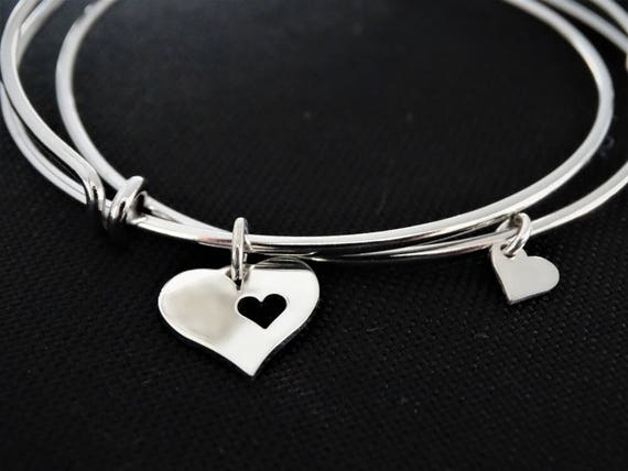 Mother daughter jewelry mother daughter bracelet set mother daughter gift bracelet mother of the bride gift Sterling silver Bracelet