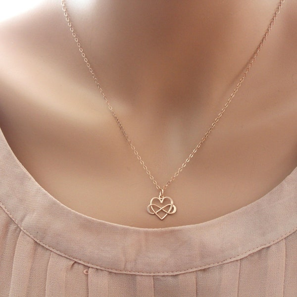 Infinity Necklace Mothers Necklace Mother daughter Necklace image 3