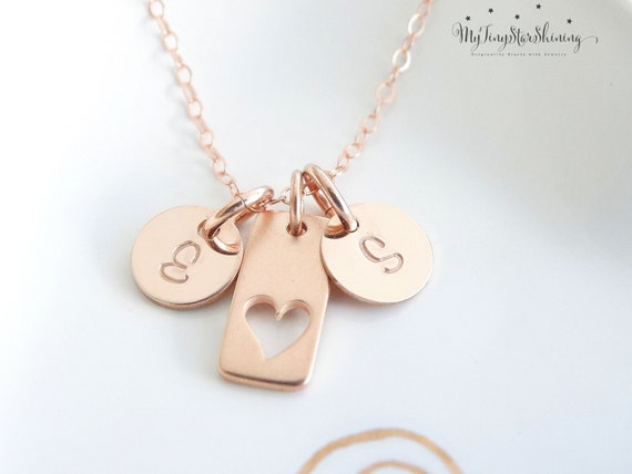 Heart Necklace Mother Daughter Jewelry Mother Daughter Necklace Set Rose Gold Heart Pendants Mom Daughter Gift Set Mom Christmas Gift