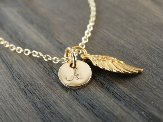 Angel Necklace Personalized Angel Wing Necklace  Memorial Necklace Miscarriage Necklace Loss Necklace Memorial Gift for Her