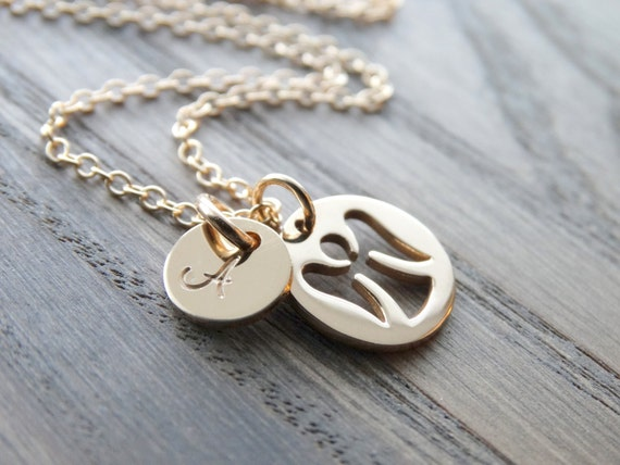 Guardian Angel Necklace Guardian Angel Charm Gold necklace Mommy of an angel necklace Rememberance jewelry Miscarriage Jewelry Faith