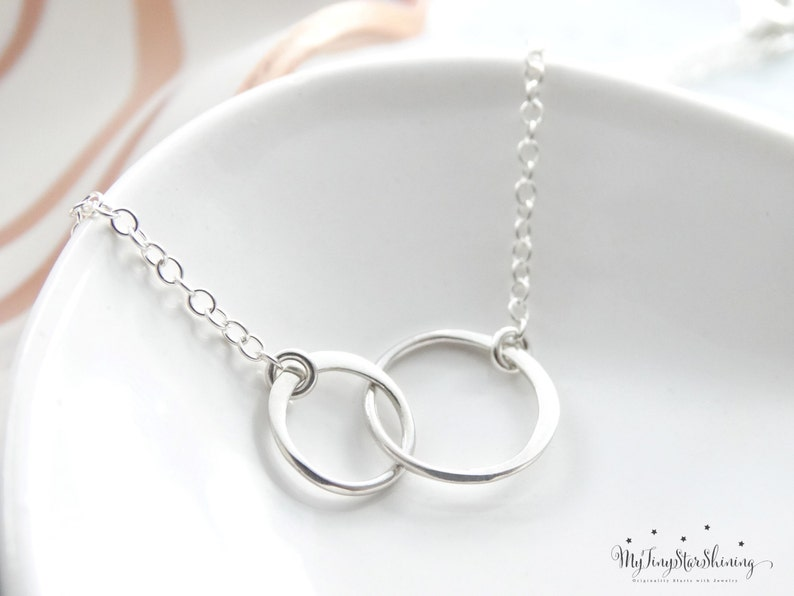 Sterling Silver circle Necklace 2 circle necklaces Best image 0