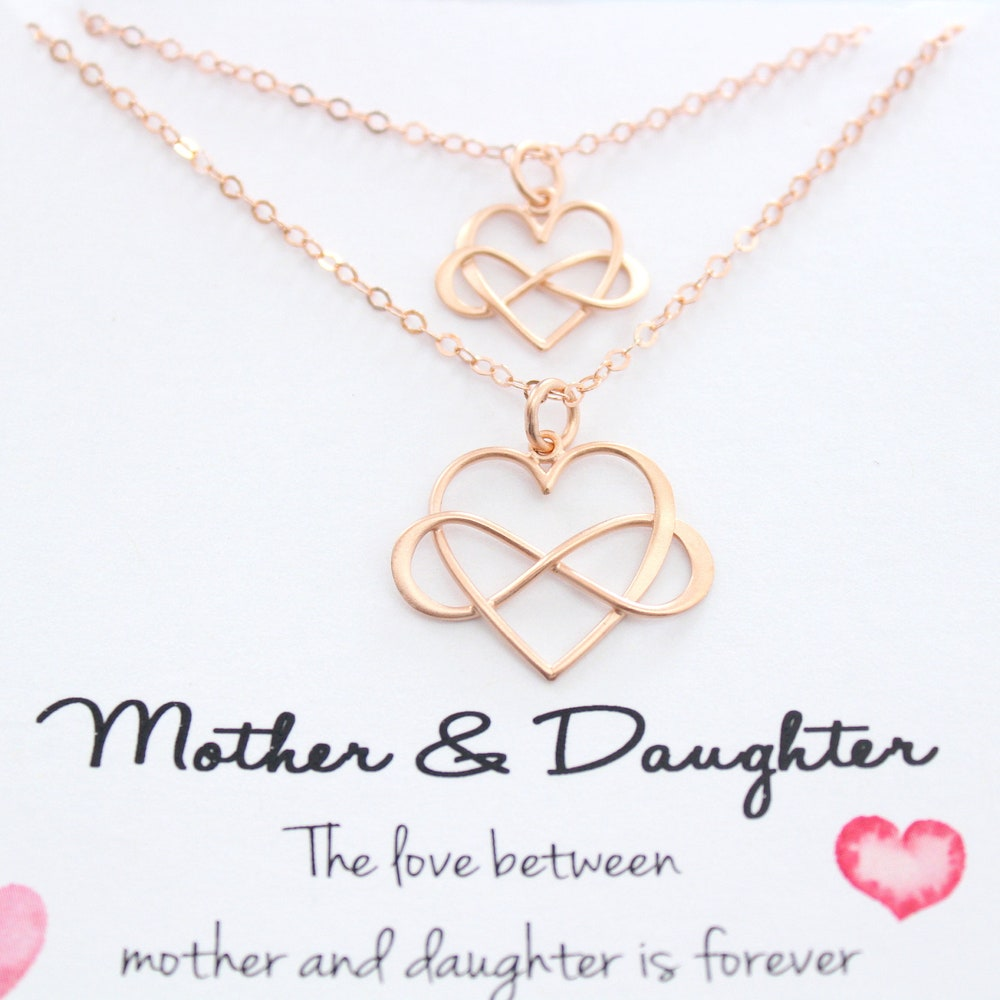 Infinity Necklace Mothers Necklace Mother daughter Necklace image 0