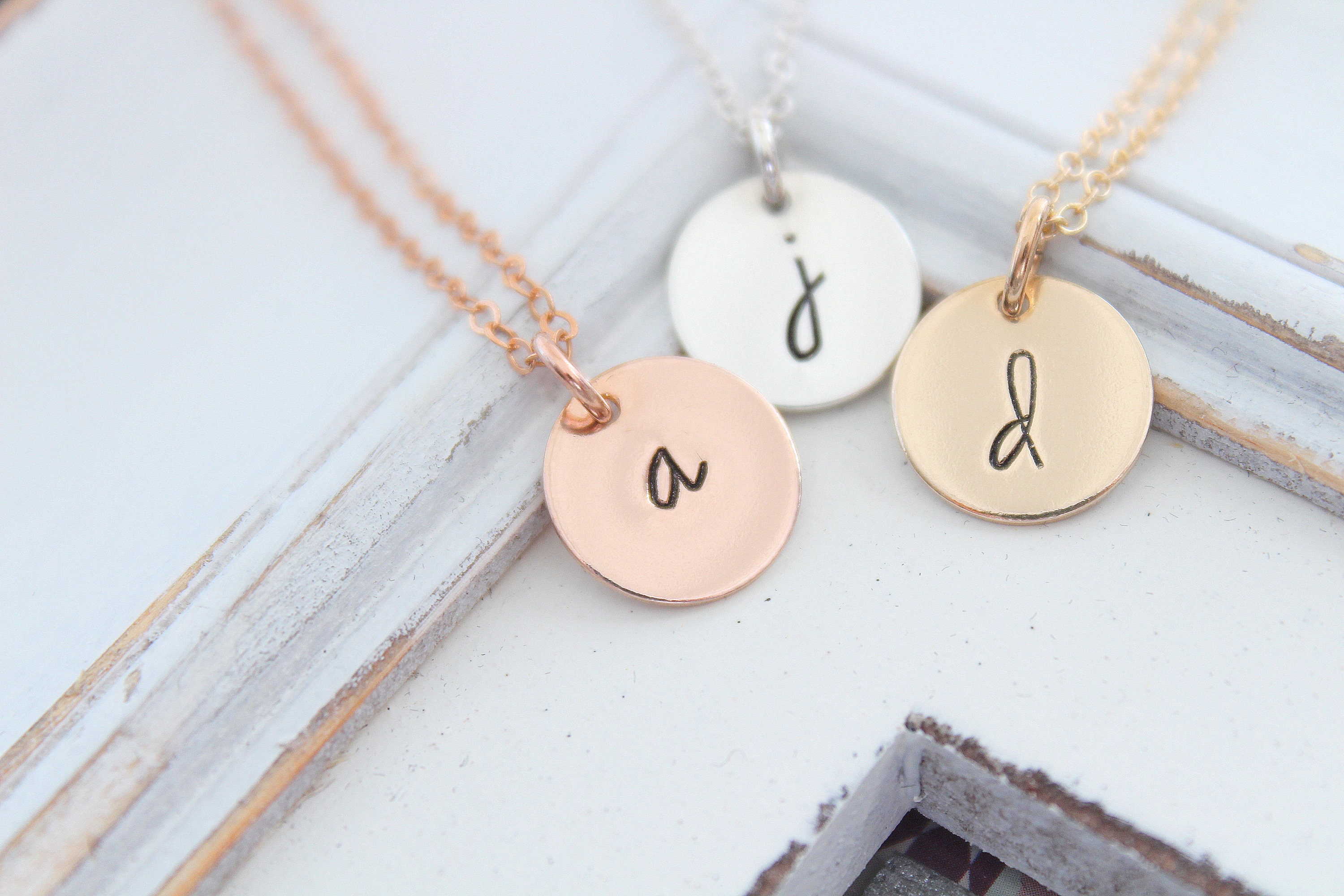 833bd872a658a Large Initial necklace Initial necklace Sterling silver Letter necklace ...