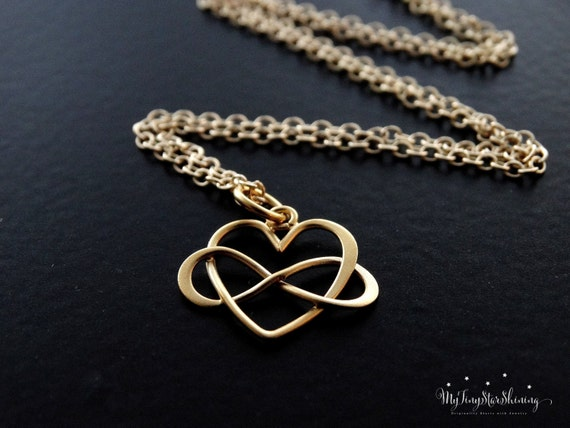 Infinity heart necklace gold Necklace Best Friends gift Sister's Necklace Sister's Gift Infinity Heart Pendant Infinity Heart Charm