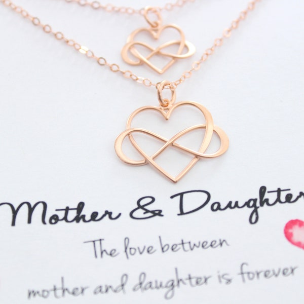 Infinity Necklace Mothers Necklace Mother daughter Necklace image 1