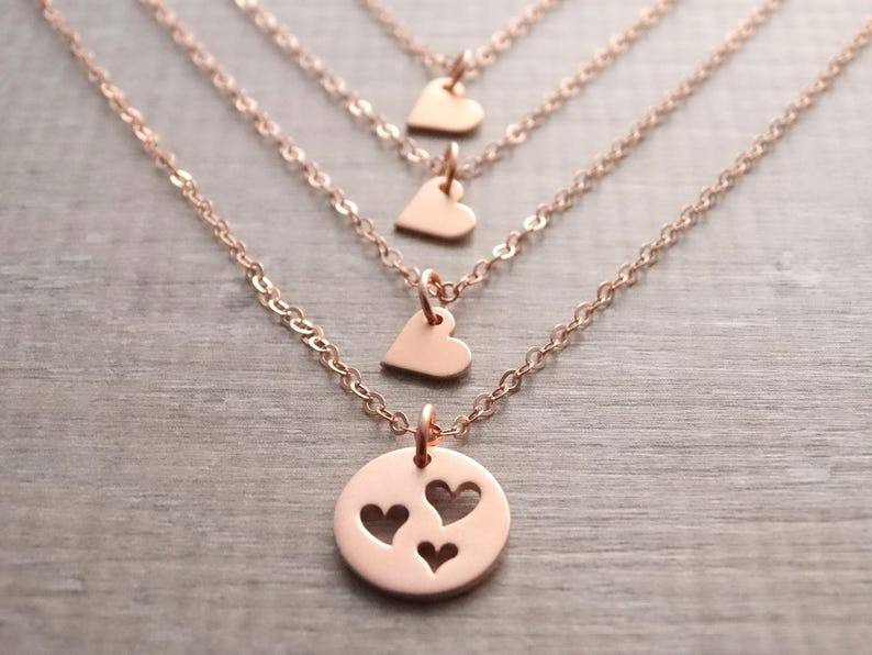 1ac194c107407 Mother daughter necklace mom birthday gift mother daughter jewelry Mother 3  daughters necklace gift for mom mothers day from daughter