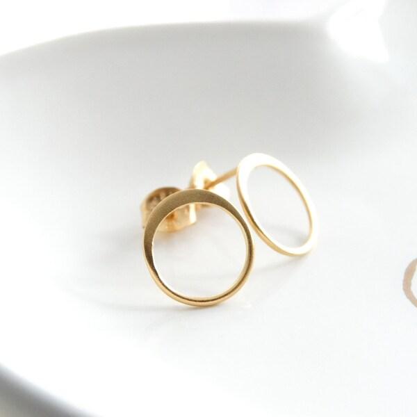 Round earrings Circle stud earrings Hoop earrings open image 1