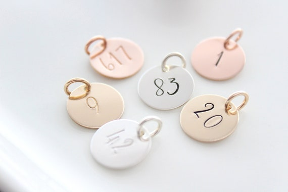 Number charm, Number necklace, Jersey number, Team Number , Personalized charm, Lucky Number