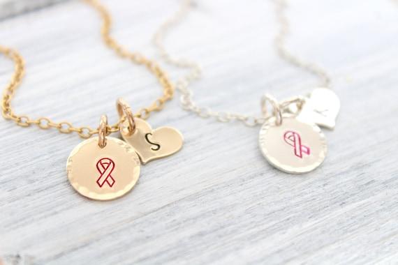 Breast cancer necklace, Cancer Awareness, Breast cancer gift, Cancer survivor gift, Pink ribbon necklace, Warrior necklace