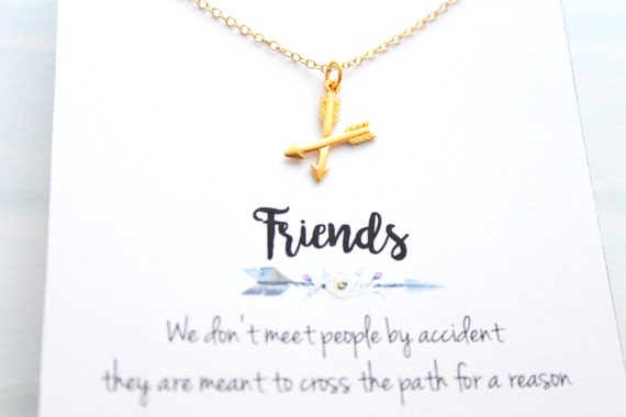 Gift for Friend, Crossed Arrow Necklace rose gold, BFF Gift, Friend Jewelry,Arrow Jewelry, Crossed Arrow, Necklace , Best Friend Jewelry