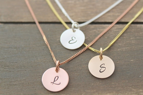 Personalized necklace Initial necklace gold Initial necklace sterling silver initial necklace for mom Christmas gift