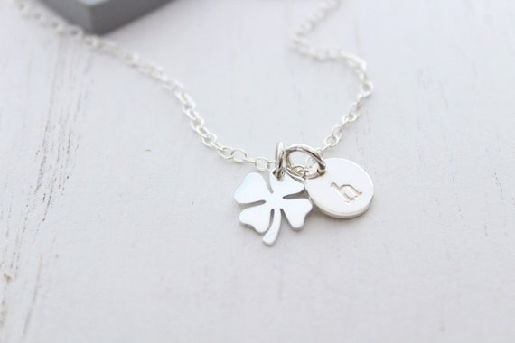 Four leaf clover necklace in silver. Clover pendant necklace, Shamrock Charm Necklac, Irish jewelry